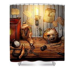 Steampunk - Repairing A Friendship Shower Curtain by Mike Savad