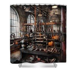 Steampunk - Room - Steampunk Studio Shower Curtain by Mike Savad