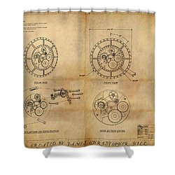 Steampunk Solar Disk Shower Curtain by James Christopher Hill