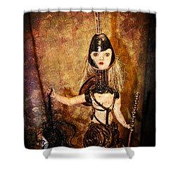 Steampunk - The Headhunter Shower Curtain by Paul Ward