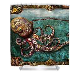 Steampunk - The Tale Of The Kraken Shower Curtain