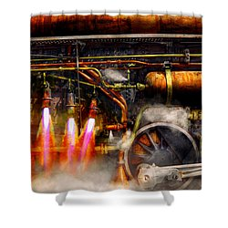 Steampunk - Train - The Super Express  Shower Curtain by Mike Savad