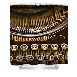 Steampunk - Typewriter - Underwood Shower Curtain by Paul Ward