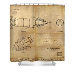 Steampunk Zepplin Shower Curtain