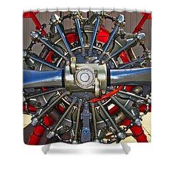 Stearman Engine Shower Curtain by Dale Jackson
