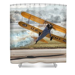 Stearman Model 75 Biplane Shower Curtain