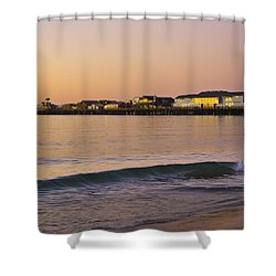 Stearns Wharf At Dawn Shower Curtain
