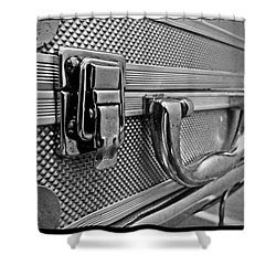 Steel Box - Triptych Shower Curtain by James Aiken
