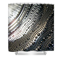 Steel Bubbles Shower Curtain