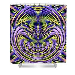 Steel Cheshire Shower Curtain by Tim Allen