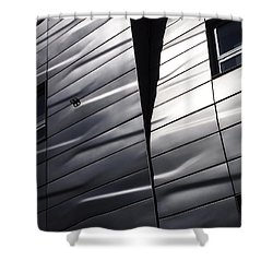 Shower Curtain featuring the photograph Steel Currents by Rona Black
