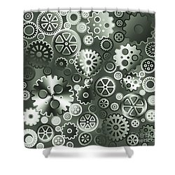 Steel Gears Shower Curtain by Gaspar Avila