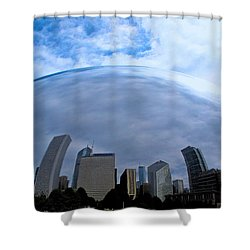 Steel Globe Shower Curtain