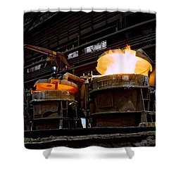 Steel Industry In Smederevo. Serbia Shower Curtain