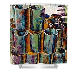 Steel Pipes Shower Curtain