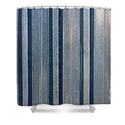 Steel Sheet Piling Wall Shower Curtain