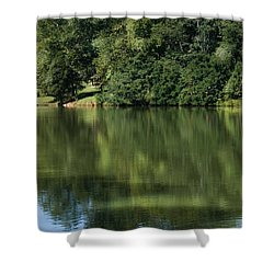 Steele Creek Park Reflections Shower Curtain