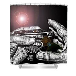 Steelworker's Blues Shower Curtain