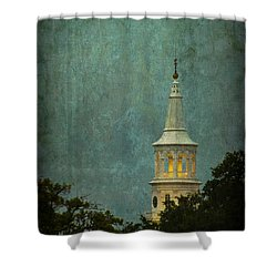 Steeple In A Storm Shower Curtain