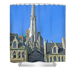 Steeple Of Grace Episcopal Church Nyc Shower Curtain