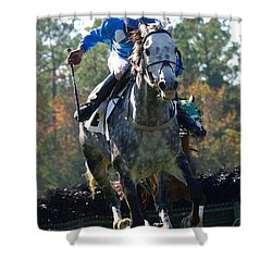 Shower Curtain featuring the photograph Steeplechase by Robert L Jackson