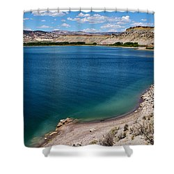 Shower Curtain featuring the photograph Steinacker Reservoir Utah by Janice Rae Pariza