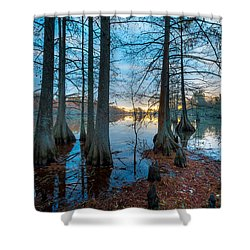 Steinhagen Reservoir Vertical Shower Curtain