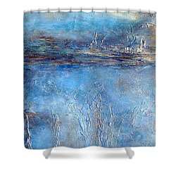 Stellar Wind Abstract Textured Painting Shower Curtain