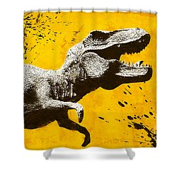 Stencil Trex Shower Curtain