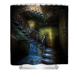 Step Into The Light Shower Curtain by Nathan Wright