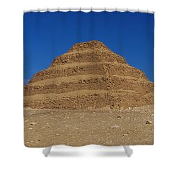 Step Pyramid Of King Djoser At Saqqara  Shower Curtain