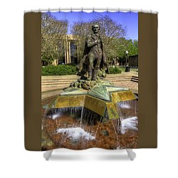 Shower Curtain featuring the photograph Stephen F. Austin Statue by Tim Stanley