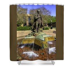 Stephen F. Austin Statue Shower Curtain