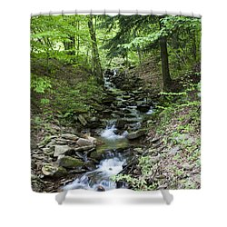 Stepped Water Fall Shower Curtain