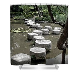Stepping Stone Kyoto Japan Shower Curtain