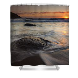 Stepping Stones Shower Curtain by Mike  Dawson