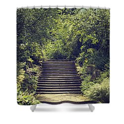 Steps Shower Curtain by Amanda Elwell