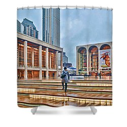 Steps To Fame Lincoln Center Shower Curtain by Jeffrey Friedkin