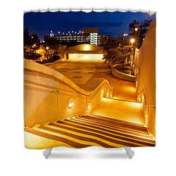 Steps To Kyle Field Shower Curtain by Linda Unger