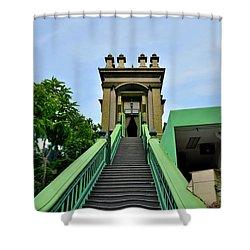 Steps To Muslim Mystic Shrine Singapore Shower Curtain by Imran Ahmed