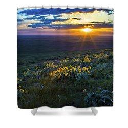 Steptoe Sunset Shower Curtain by Sonya Lang