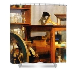 Stereopticon For Sale Shower Curtain by Susan Savad