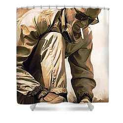 Steve Mcqueen Artwork Shower Curtain