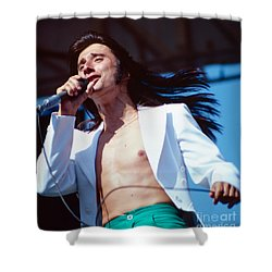 Steve Perry Of Journey At Day On The Green Shower Curtain