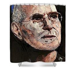 Shower Curtain featuring the painting Steven Paul Jobs by Gordon Dean II