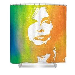 Steven Tyler Canvas Shower Curtain by Dan Sproul