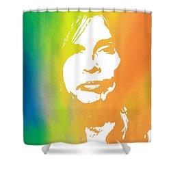 Steven Tyler Shower Curtain by Dan Sproul