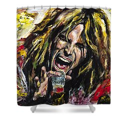 Steven Tyler Shower Curtain by Mark Courage