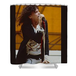 Steven Tyler Of Aerosmith At Monsters Of Rock In Oakland Ca Shower Curtain