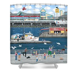 Steveston Landing Shower Curtain by Wilfrido Limvalencia